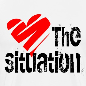 White Love the Situation T-Shirts - Men's Premium T-Shirt