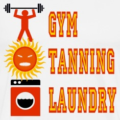 White Jersey Shore Gym Tanning Laundry T-Shirts