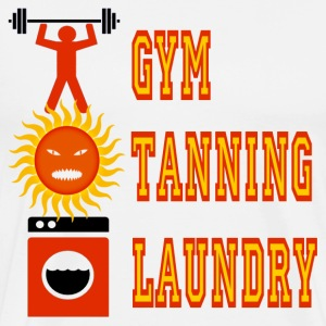 White Jersey Shore Gym Tanning Laundry T-Shirts - Men's Premium T-Shirt