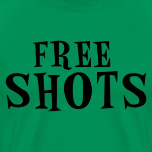 Kelly green free shots T-Shirts - Men's Premium T-Shirt