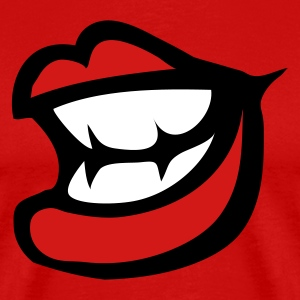 Red smile lips with small sharp teeth T-Shirts - Men's Premium T-Shirt