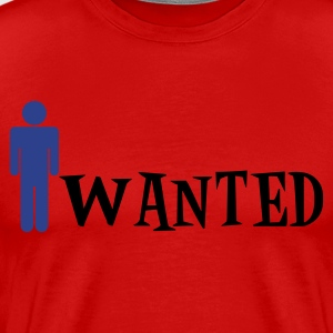 Red man wanted T-Shirts - Men's Premium T-Shirt