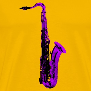 purple sax - Men's Premium T-Shirt