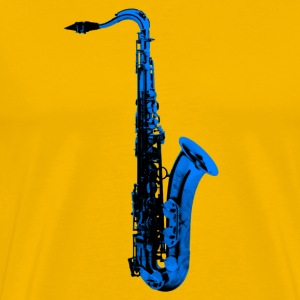 blue saxophone - Men's Premium T-Shirt