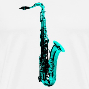 green saxophone - Men's Premium T-Shirt