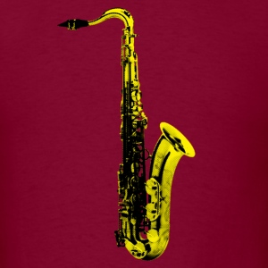 yellow saxophone - Men's T-Shirt