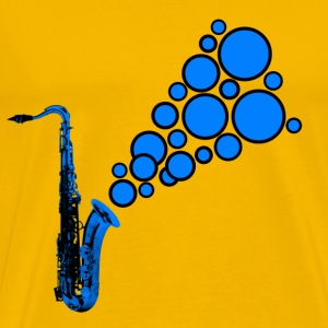 blue sax tune - Men's Premium T-Shirt