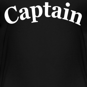 Black CAPTAIN Toddler Shirts - Toddler Premium T-Shirt