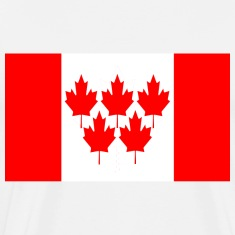 White Canada Flag 5 Maple Leaf Winter Games T-Shirts
