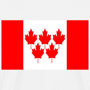 White Canada Flag 5 Maple Leaf Winter Games T-Shirts - Men's Premium T-Shirt