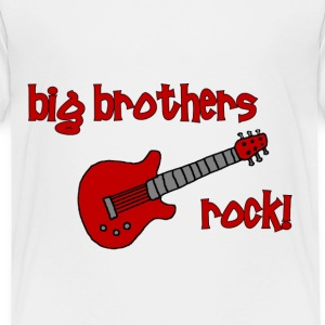 Big Brothers Rock! with Guitar - Toddler Premium T-Shirt