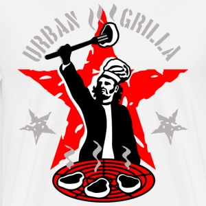 Urban Grilla, barbecue chef / cook - Men's Premium T-Shirt