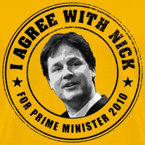 I agree with Nick Clegg - Men's Premium T-Shirt