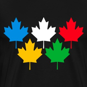 Black Canada Maple Leaves T-Shirts - Men's Premium T-Shirt