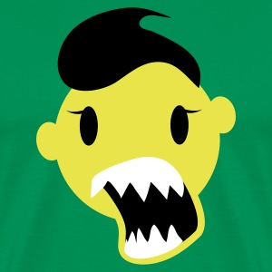 Forest green smiley going crazy with massive mouth EMO hair! T-Shirts - Men's Premium T-Shirt