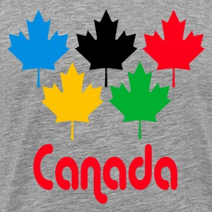 Heather grey Canada Maple Leaf T-Shirts - Men's Premium T-Shirt