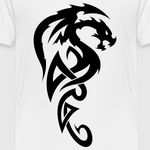 White tribal dragon Toddler Shirts - Toddler Premium T-Shirt