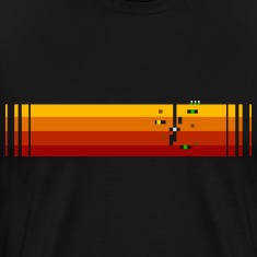Black bigPixel4 T-Shirts