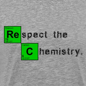 Ash  Respect the Chemistry Breaking Bad T-Shirts - Men's Premium T-Shirt