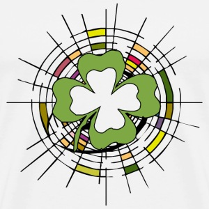 Shamrock Stained Glass D - Men's Premium T-Shirt