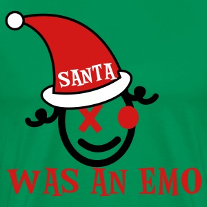 Forest green SANTA WAS AN EMO T-Shirts - Men's Premium T-Shirt