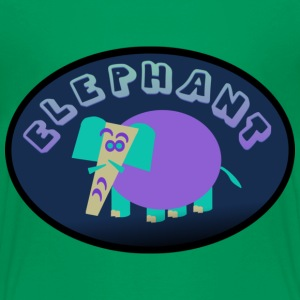 Kelly green Colorful Elephant On Oval Bkgrd With Shading--DIGITAL DIRECT ONLY Kids' Shirts - Kids' Premium T-Shirt