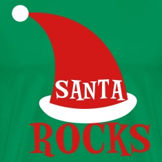 Forest green SANTA ROCKS !!! T-Shirts