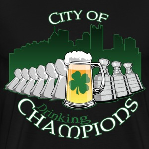 City of Drinking Champions - Pittsburgh - Black T-Shirt - Men's Premium T-Shirt