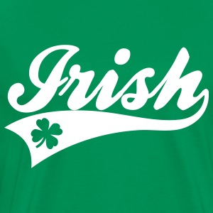 Kelly green Irish Baseball Swash One Color T-Shirts - Men's Premium T-Shirt