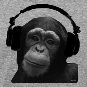 Heather grey MONKEY DJ by wam T-Shirts - Men's Premium T-Shirt
