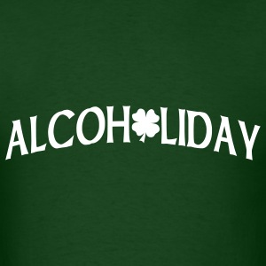 Forest green Alcoholiday T-Shirts - Men's T-Shirt