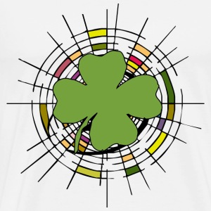 Shamrock Stained Glass A - Men's Premium T-Shirt