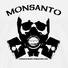 MONSANTO Gas Mask Heavyweight cotton Tee white