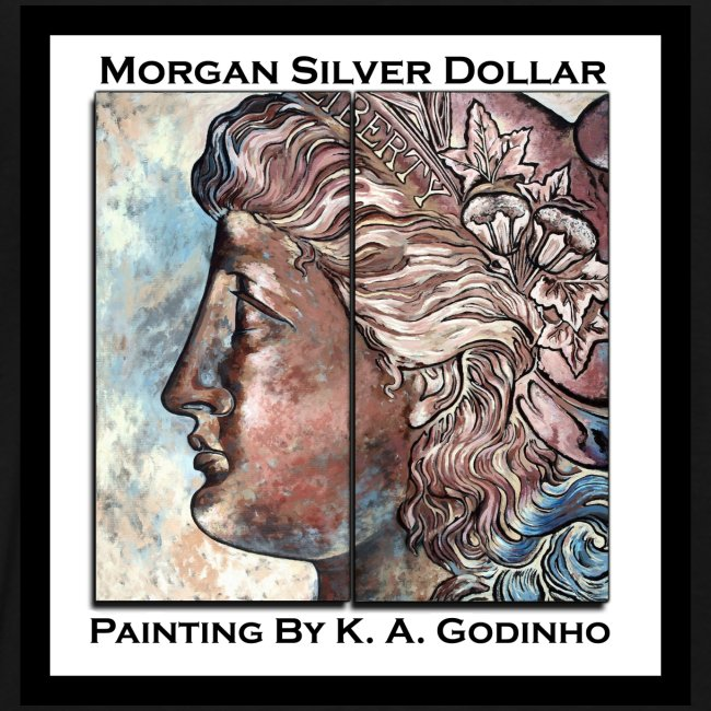 Morgan Silver Dollar Obverse Men's T-shirt front and back