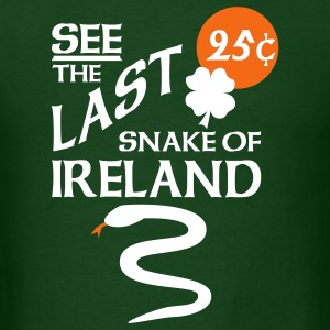 Forest green Snake Of Ireland T-Shirts - Men's T-Shirt