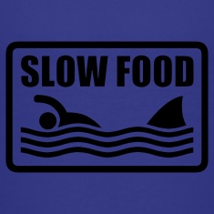 Turquoise slow food Kids' Shirts