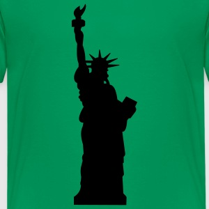 Kelly green statue of liberty Kids' Shirts - Kids' Premium T-Shirt