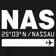 Design ~ Nassau Bahamas airport code NAS black t-shirt
