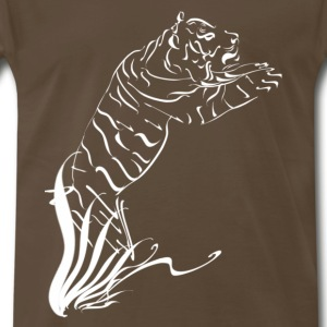 Leaping Tiger 2 white - Men's Premium T-Shirt