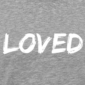 Heather grey loved T-Shirts - Men's Premium T-Shirt