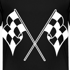 Black checkered flag Toddler Shirts