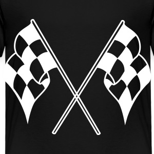 Black checkered flag Toddler Shirts - Toddler Premium T-Shirt