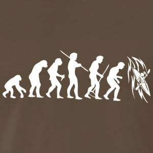 Brown Evolution Kayak White T-Shirts - Men's Premium T-Shirt