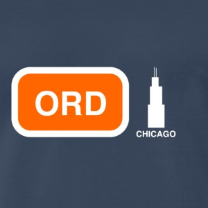 Chicago USA Airport Code ORD Shirt - Men's Premium T-Shirt
