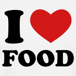 White I Love Food T-Shirts - Men's Premium T-Shirt