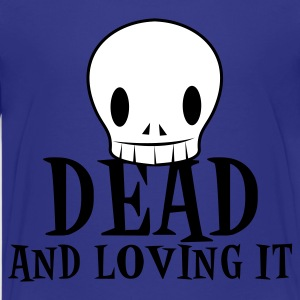Turquoise dead and loving it SKULL emo fashion Kids' Shirts - Kids' Premium T-Shirt
