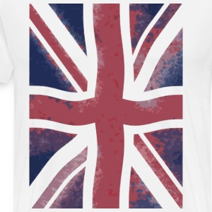 White grunge flag T-Shirts - Men's Premium T-Shirt