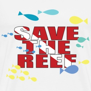 White Save The Reef T-Shirts - Men's Premium T-Shirt