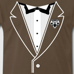 BEAR TUXEDO White Line - Men's Premium T-Shirt