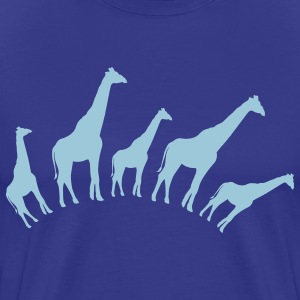 Royal blue giraffe shapes in a row good for babies or maternity T-Shirts - Men's Premium T-Shirt